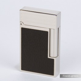 S.T.Dupont Brown Leather and Palladium Line 2 Lighter