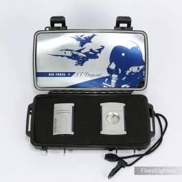 S.T.Dupont Air Force Limited Edition Set, Maxijet Lighter, Cigar Cutter and Travel Humidor