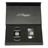 S.T. Dupont MaxiJet Lighter and Lacquer Cigar Cutter Set - Vibration