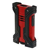 S.T. Dupont Defi XXtreme Lighter,  Double Flame, Black & Matte Red